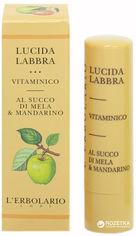 Витаминный блеск для губ Lerbolario на базе яблочного сока и мандарина 4.5 мл (8022328101391) от Rozetka