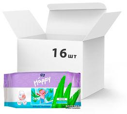 Упаковка детских влажных салфеток Bella Baby Happy Sensetive Aloe Vera 16 пачек по 56 шт (BB-062-WS56-006) от Rozetka