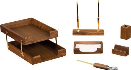 Набор настольный деревянный Bestar 6 предметов Орех (6280WDN) от Rozetka