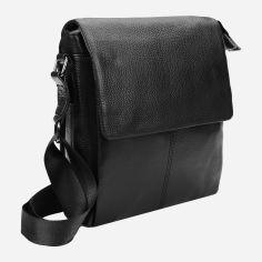 Акция на Мужская кожаная сумка-планшет Laras 10t8871 Черная (ROZ6205065001) от Rozetka