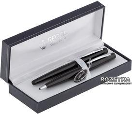 Комплект ручек (перьевая + шариковая) Regal Черный корпус в подарочном футляре (R80200.L.BF) от Rozetka