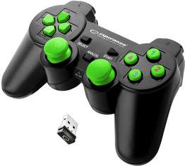 Беспроводной геймпад Esperanza Gladiator PC/PS3 Black/Green (EGG108G) от Rozetka