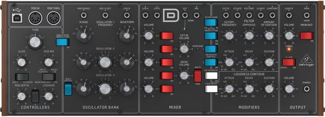 Акция на Аналоговый синтезатор Behringer Model D (BE-0846) от Rozetka
