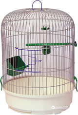 Клетка для птиц Лорі Рондо 44 х 32.5 х 32.5 см Белая (4820033202556) от Rozetka