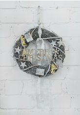 Акция на Рождественский венок СolorWay Merry Christmas из натуральных веток ротанга 35 см Gray (CW-MCW-35G) от Rozetka