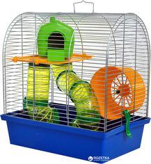 Клетка для грызунов Лорі Бунгало-2 Люкс 36.5 х 33.5 х 23 см Синяя (4820033201450) от Rozetka
