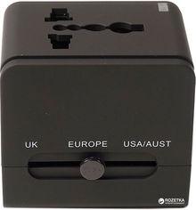 Акция на Переходник сетевой PowerPlant универсальный c USB (DV00DV5067) от Rozetka