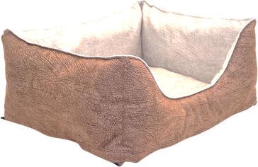 Лежак Лори Мрия №1 30х40х21 см двусторонний Бежевый с коричневым (4823094306287) от Rozetka