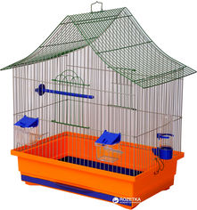 Клетка для птиц Лорі Алиса 54 х 47 х 30 см Оранжевая (4820033202310) от Rozetka