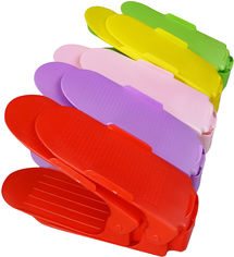Акция на Двойная стойка для обуви Supretto 10 шт 25х10х13 см в ассортименте (5421-2) от Rozetka