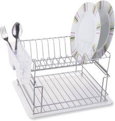 Сушка для посуды Tekno-tel KB 010 двоуровневая Хром (40420210) от Rozetka