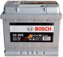 Акция на Автомобильный аккумулятор Bosch 63Аh Ев (-/+) S5005 (610EN) (0092S50050) от Rozetka