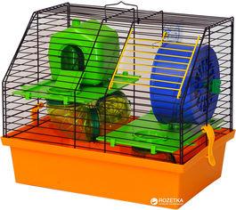 Акция на Клетка для грызунов Лорі Вилла Люкс 2 28.2 х 33.5 х 22.5 см Оранжевая (4823094302449) от Rozetka