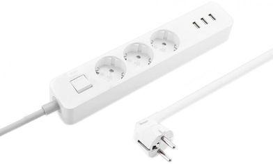Удлинитель Xiaomi Mi Power Strip 3 розетки + 3 USB XMCXB04QM White (NRB4030GL) (Международная версия) от Rozetka