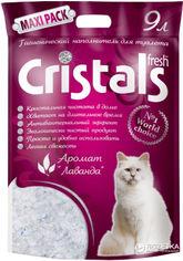 Акция на Наполнитель для кошачьего туалета Cristals Fresh с лавандой Силикагелевый впитывающий 4.1 кг (9 л) (6930009507047) от Rozetka