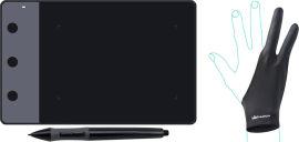 Акция на Графический планшет Huion H420 с перчаткой от Rozetka