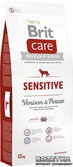 Акция на Сухой корм гипоаллергенный с олениной для собак всех пород Brit Care Sensitive All Breed 12 кг (8595602510801) от Rozetka