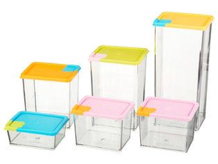 Акция на Набор прямоугольных контейнеров Supretto для сыпучих продуктов 6 шт (4942) от Rozetka