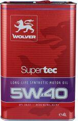 Моторное масло Wolver SuperTec 5W-40 4 л (4260360940019) от Rozetka