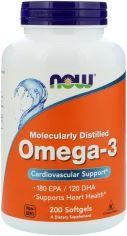 Акция на Жирные кислоты Now Foods Омега-3 1000 мг 200 желатиновых капсул (733739016522) от Rozetka