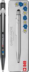 Ручка шариковая Caran d'Ache 849 Синяя 0.7 мм Totally Swiss Эдельвейс в подарочном футляре (7630002330183) от Rozetka