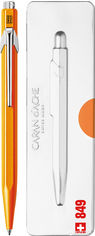 Ручка шариковая Caran d'Ache 849 Pop Line Fluo Синяя 0.7 мм Оранжевый корпус в подарочном футляре (7630002316781) от Rozetka