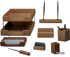 Набор настольный деревянный Bestar 8 предметов Орех (8280WDN) от Rozetka