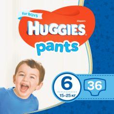 Подгузники-трусики для мальчиков Huggies Pants 6 (15-25 кг), 36 шт. от Pampik