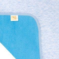 Многоразовая непромокаемая пеленка ЭКО ПУПС Jersey Classic, двусторонняя, хлопок, 90х65 см, голубой (ПЕЛ-6590хбтрс) от Pampik
