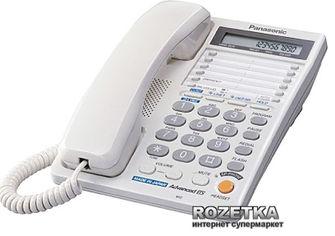 Акция на Panasonic KX-TS2368RUW White (двухлинейный) от Rozetka
