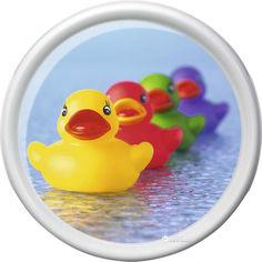 Акция на Поднос круглый Emsa Rotation Rubber Ducks 30 х 30 см Белый с рисунком (EM512513) от Rozetka