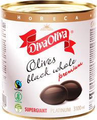 Акция на Черные маслины Diva Oliva Platinum Супергигант с косточкой 3100 мл (5060235659027) от Rozetka