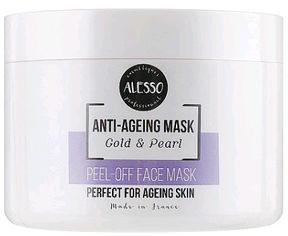 Акция на Альгинатная маска для лица Alesso Анти-Эйдж Gold & Pearl омолаживающая 200 г (3273629214432) от Rozetka