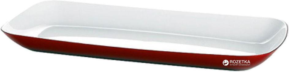 Акция на Поднос сервировочный прямоугольный Emsa Vienna 38 х 17 см Белый/Красный (EM505276) от Rozetka