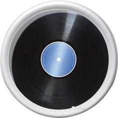 Акция на Поднос круглый Emsa Rotation Vinyl 30 х 30 см Белый с рисунком (EM512514) от Rozetka