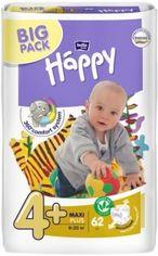 Подгузники Bella Baby Happy 4+ (9-20 кг), 62 шт. от Pampik