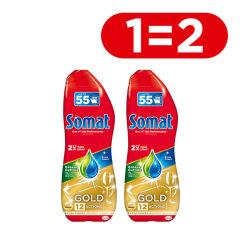 Акция на Гель для мытья посуды в посудомоечной машине Somat Gold Анти-Жир 990 мл (9000101344530) от Rozetka