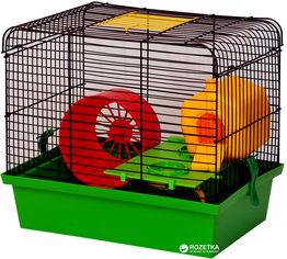 Акция на Клетка для грызунов Лорі Хомяк-1 Люкс 29 х 33 х 23 см Зеленая (4823094302265) от Rozetka