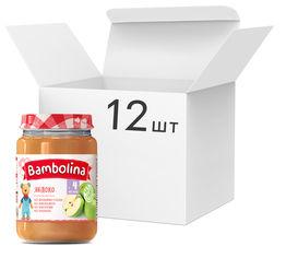 Акция на Упаковка пюре Bambolina Яблоко 190 г х 12 шт (4813163001953) от Rozetka