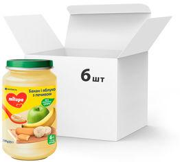 Акция на Упаковка детского пюре Milupa фруктового Банан, яблоко с печеньем с 6 месяцев 190 г х 6 шт (5900852051456) от Rozetka