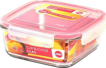 Акция на Контейнер квадратный Emsa Clip&Close 780 мл Розовый (EM508102) от Rozetka