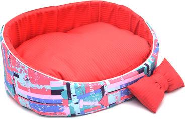 Лежак Лори Акварель №2 37.5х49.5х18.5 см Красный (4823094306584) от Rozetka