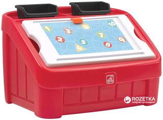 Комод для игрушек и поверхность для творчества 2 в 1 Step 2 Box and Art Красный (733538848997) от Rozetka