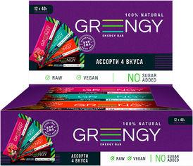 Акция на Упаковка батончиков Greengy Ассорти 12 шт х 40 г (4820221320413) от Rozetka