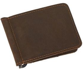 Кожаный зажим для денег Laras K108150 Коричневый (ROZ6206113781) от Rozetka