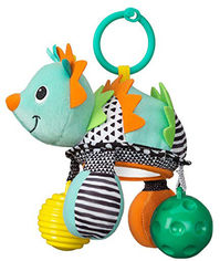 Навесная игрушка с зеркалом Infantino Ежик (216323I) (3021105163237) от Rozetka