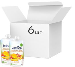 Упаковка фруктового пюре с козьими сливками Kabrita Манго с яблочным пюре с 6 месяцев 6 х 100 г (8716677006901) от Rozetka