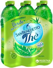 Акция на Упаковка холодного зеленого чая San Benedetto Алоэ Вера 1.5 л х 6 бутылок (8001620003886) от Rozetka