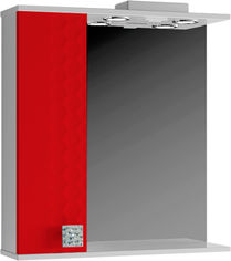 Акция на Зеркало ВАНЛАНД Нео Нз 1-65 со шкафчиком красный левый от Rozetka