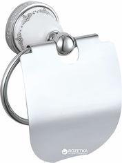 Акция на Держатель для туалетной бумаги закрытый AQUA RODOS VICTORIA 7426 керамика/хром от Rozetka